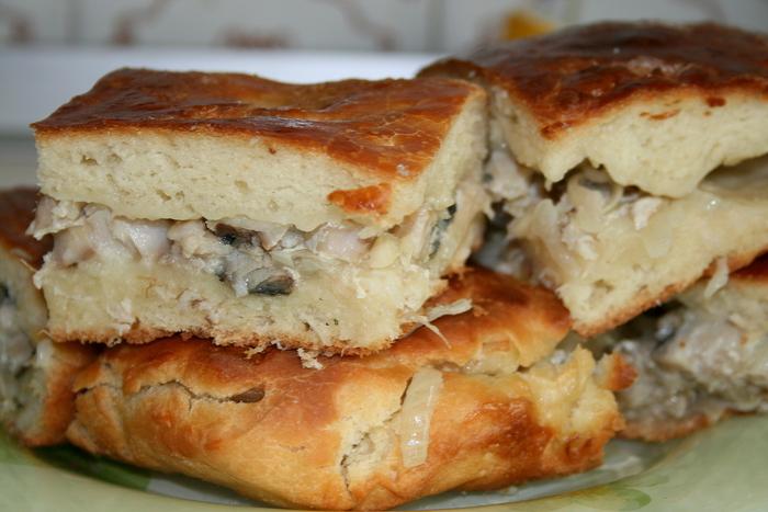Пирог свежей рыбы рецепт фото